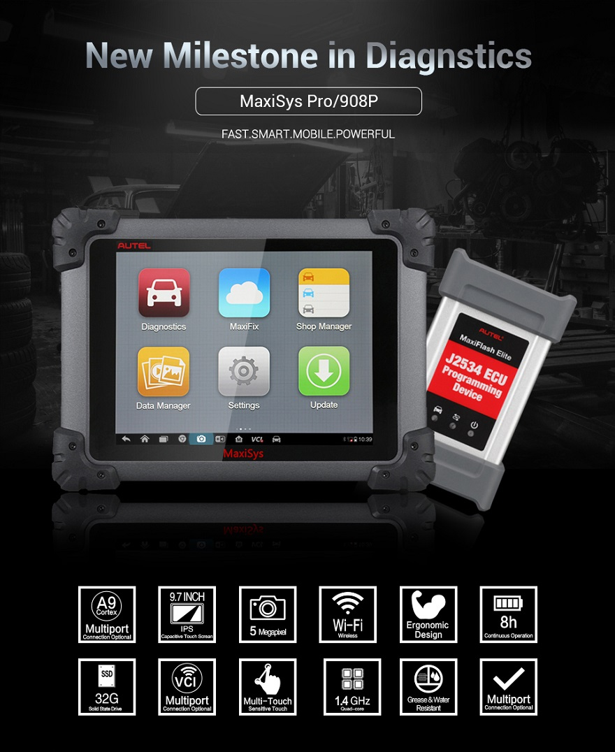 Autel MaxiSys Pro/908P for full system diagnose function