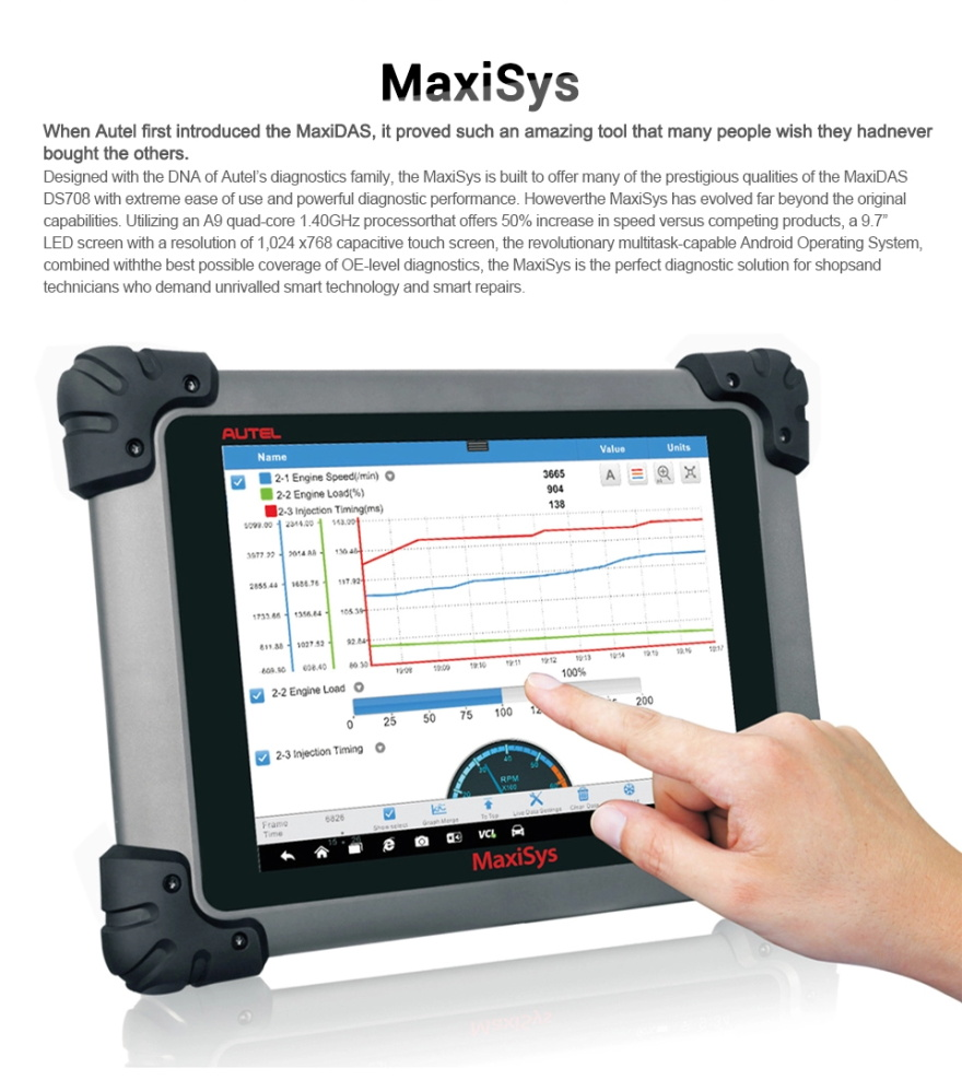 Autel MaxiSys Pros/908P with touch screen